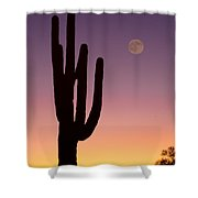 Southwest Desert Moon Glow Shower Curtain