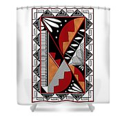 Southwest Collection - Design Seven In Red Shower Curtain