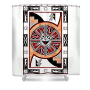 Southwest Collection - Design Six In Red Shower Curtain