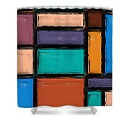 Southwest Home And Garden Color Block Shower Curtain