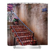 Southwest Staircase Shower Curtain