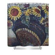 Southwest Sunflowers Shower Curtain