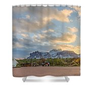 Southwest Sunrise Winter Shower Curtain