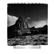 Southwestern Beauty In Black And White Shower Curtain