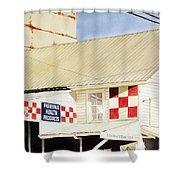 Southwestern Feed Shower Curtain by Jim Gerkin