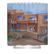 Southwestern Home Illustration Shower Curtain