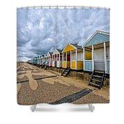 Southwold Beach Huts 4 Shower Curtain