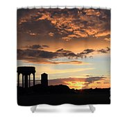 Water Towers On Southwold Common Shower Curtain