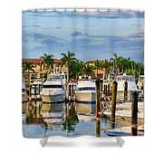 Soverel Harbour Marina Shower Curtain