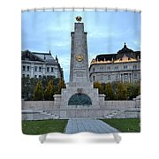 Soviet Red Army Monument Budapest Hungary Shower Curtain