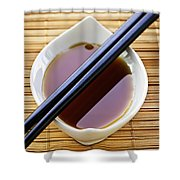 Soy Sauce With Chopsticks Shower Curtain