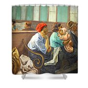 Soyer's A Railroad Station Waiting Room Shower Curtain
