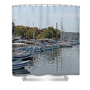Sozopol Harbour Bulgaria. Shower Curtain