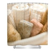 Spa Basket With Soaps Shower Curtain