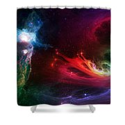 Space Cat Angel - 1 Shower Curtain by Julie Turner