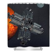 Space Colony Shower Curtain