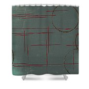 Space Configuration Shower Curtain