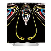 Space Fly Shower Curtain
