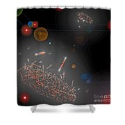 Space Junk Collectors Shower Curtain