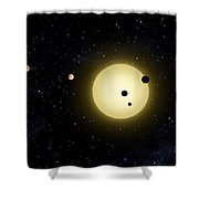 Space Kepler 11 Introduction Shower Curtain