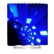 Space Mountain Blast Off Shower Curtain