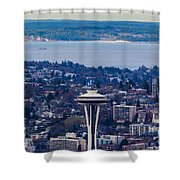 Space Needle 12th Man Seahawks Shower Curtain