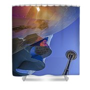 Space Needle And Emp In Perspective Non Hdr Shower Curtain