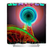 Space Needle Poster Work A Shower Curtain