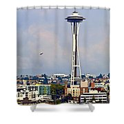Space Needle Seattle Shower Curtain