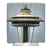 Space Needle Tower Seattle Washington Shower Curtain