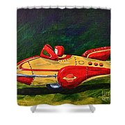 Space Patrol Two Shower Curtain