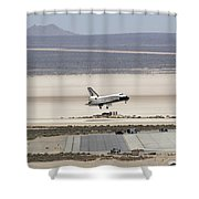 Space Shuttle Atlantis Landing Shower Curtain