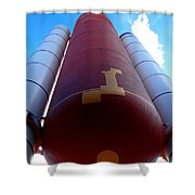Space Shuttle Fuel Tank And Boosters Shower Curtain