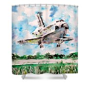 Space Shuttle Landing Shower Curtain