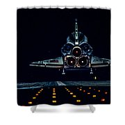 Space Shuttle Night Landing Shower Curtain