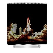 Space Shuttle Night Launch Shower Curtain