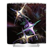 Space Station Alpha Shower Curtain
