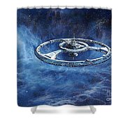 Deep Space Eight Station Of The Future Shower Curtain