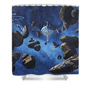 Space Station Outpost Twelve Shower Curtain