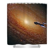 Space The Final Frontier Shower Curtain