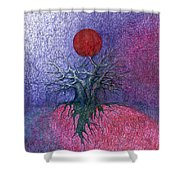 Space Tree Shower Curtain