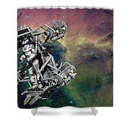 Space Walk Pod Shower Curtain