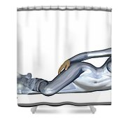 Spacegirl 5... Shower Curtain