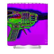 Spacegun 20130115v4 Shower Curtain
