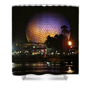 Spaceship Earth At Night Shower Curtain