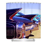 Spaceships Palm Springs Shower Curtain