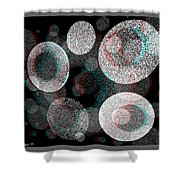 Spacial Rift - View With Or Without Red-cyan 3d Glasses Shower Curtain
