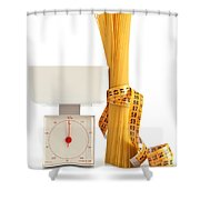 Spaghetti And Scale Shower Curtain