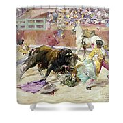 Spain - Bullfight C1900 Shower Curtain