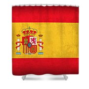 Spain Flag Vintage Distressed Finish Shower Curtain